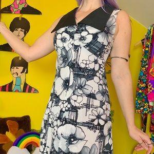 Vintage 70s Hawaiian barkcloth maxi dress XS